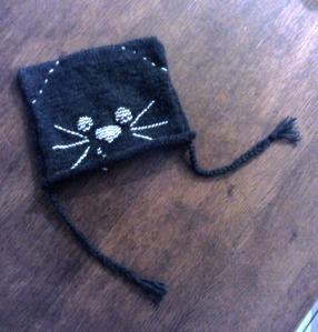Bonne pour Chouquette - modèle Phildar + laine de récup'