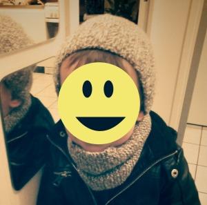Snood et bonnet pour Chouchou