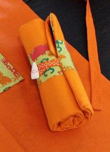Trousse à feutres orange Créa de Fil et d'Aiguille