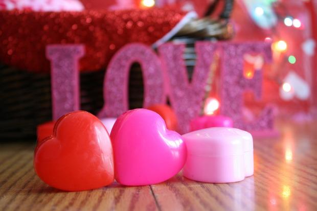 Love et des petits coeurs