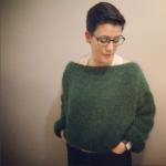 Patron gratuit tricot pull femme loose oversize en laine mohair